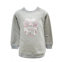OWL SEQUIN FLEECE TOP FOR GIRLS