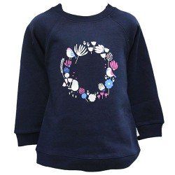FLOWERY CIRCLE PRINTED TOP FOR GIRLS