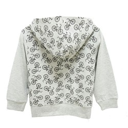 BICYCLE HOODIE FOR BOYS (GREY)