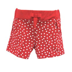 RED SPOT SHORTS FOR GIRLS (RED)