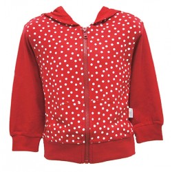 RED SPOT HOODIE FOR GIRLS