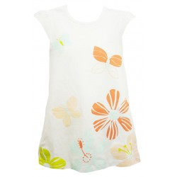 FUN FLORAL DRESS FOR GIRLS (WHITE)