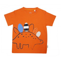 4D DINOSAUR T-SHIRT, AUGMENTED REALITY (ORANGE) FOR BOYS