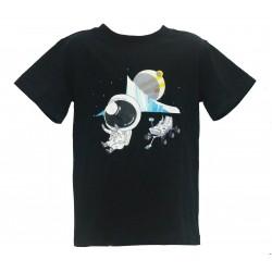 4D ASTRONAUT & CURIOSITY ROVER Short Sleeve T-SHIRT IN UV Protection