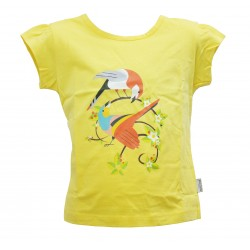 A COUPLE BIRDS COME TO FLOWERS T-SHIRT FOR GIRLS